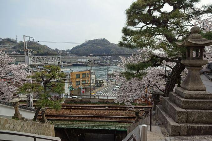 浄土寺への階段は、線路の下を通って?!