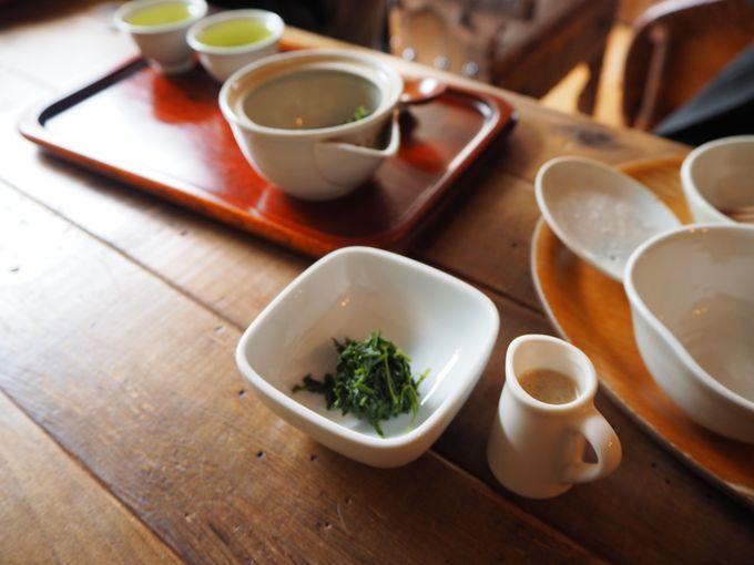 お茶を3度味わって、その後はお茶の葉も食す