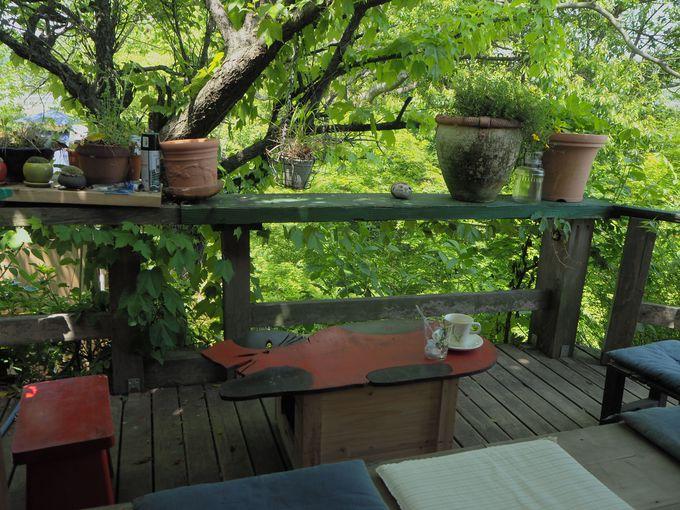 まるでツリーハウスみたいな素敵な席も・・