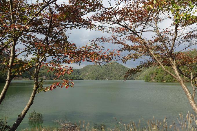 大妻コタカ女史生家の本来あった場所は湖(三川ダム)の底