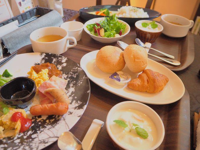 併設レストラン「CRUSERO」で、楽しめる2種の朝食