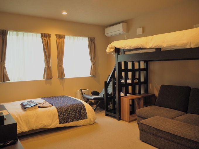 14室ある客室はどれも清潔で明るく心地良いつくり