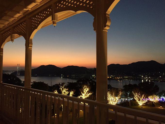 「旧三菱第2ドックハウス」からの蕩けそうな夕景