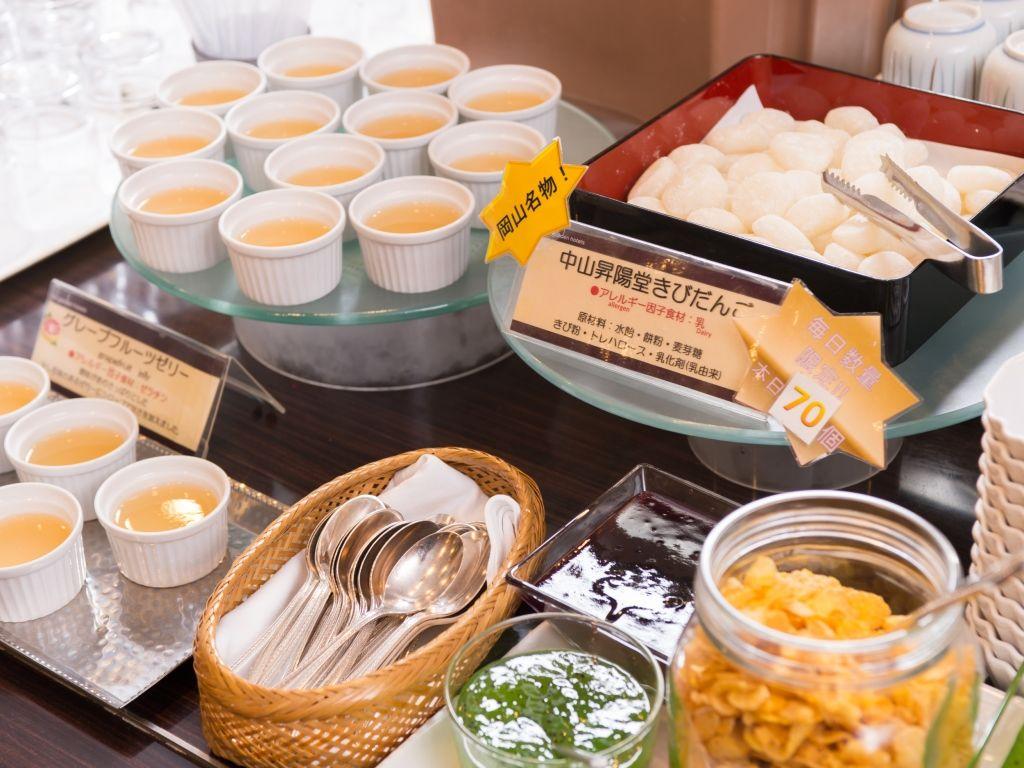 清潔感あふれる「ガーデンカフェ」での朝食
