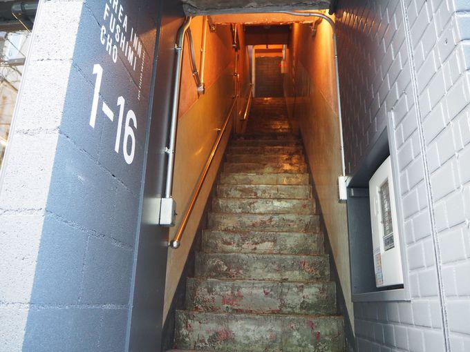 伏見町の記憶を散りばめた古いビル〜寝室への道のり