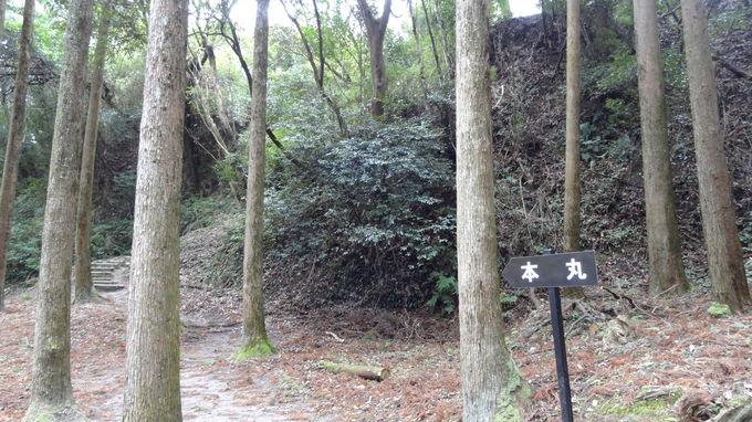 近世知覧麓前身の城として重要な知覧城の本丸へ