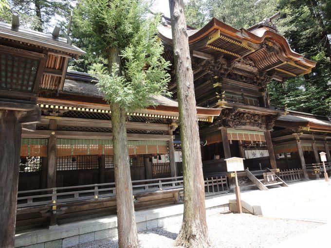 春宮の拝殿・左右片拝殿も、国の重要文化財!