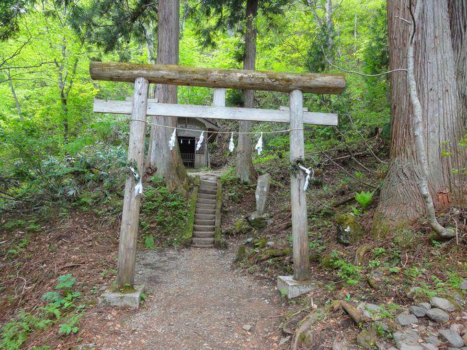 「飯綱大明神」が祀られた小さな神社