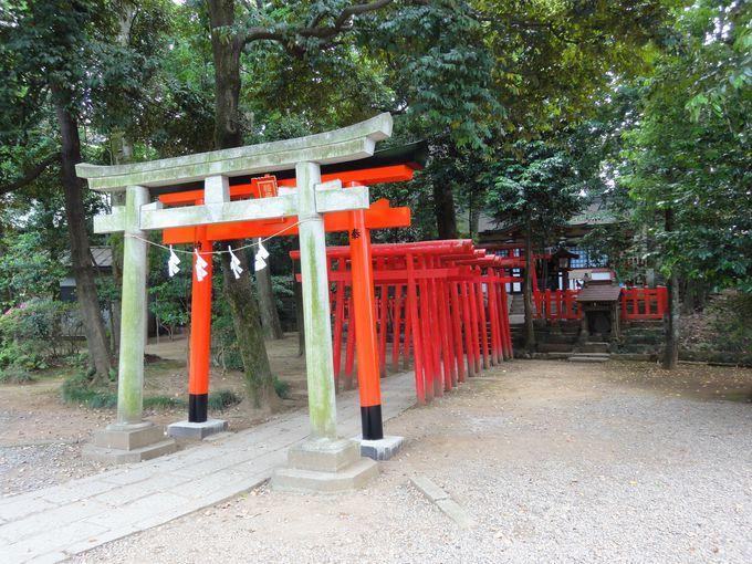 「倉稲魂命」が祀られている末社「稲荷神社」は産業全般にご利益
