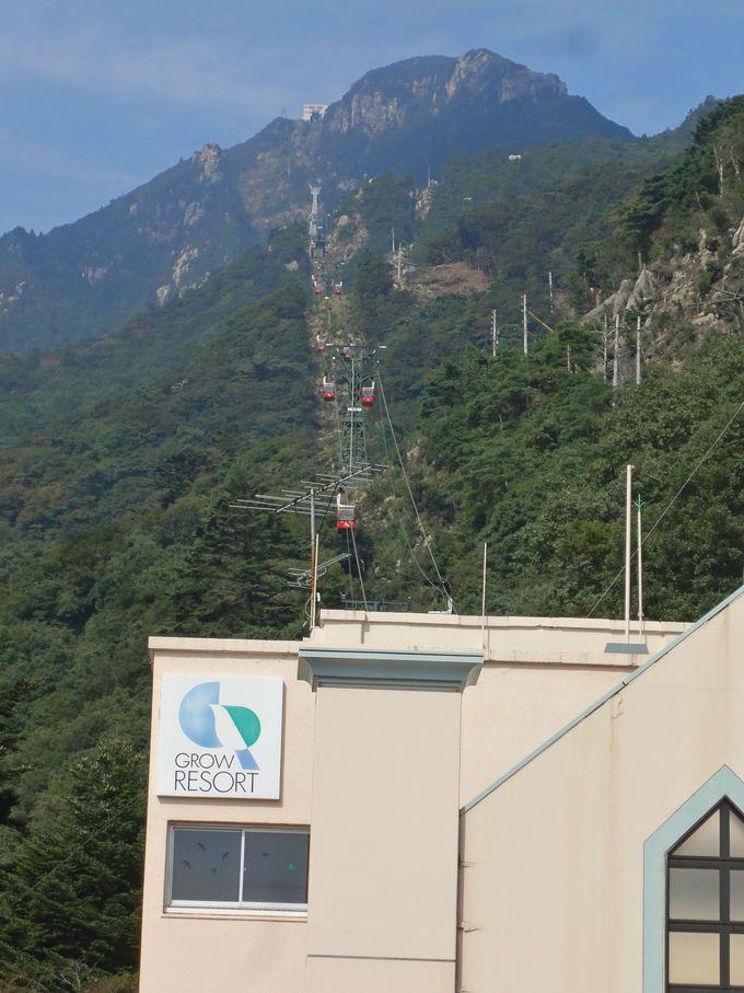 湯の山温泉駅から御在所岳の山頂目指してGO!