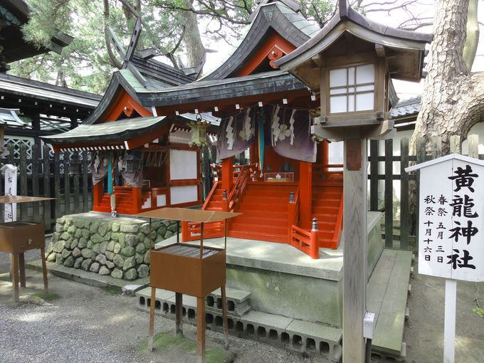 新潟の鬼門に建立されている「黄龍神社」