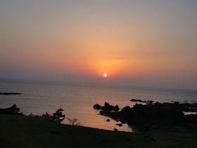 日本海に沈む夕陽を眺める!「佐渡リゾート ホテル吾妻」