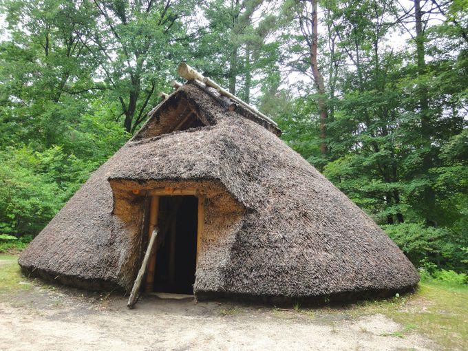 縄文・弥生・平安時代の住居の遺跡がある!