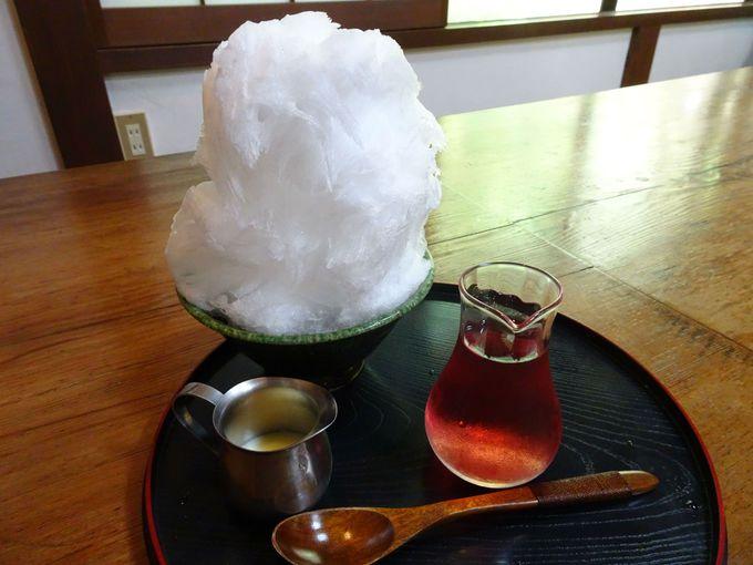 食後に、西秩父地域限定の「毘沙門氷」はいかが?