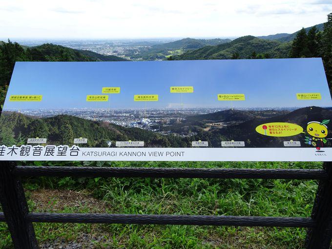 晴れた日には東京スカイツリーが肉眼で見える!「桂木観音展望台」