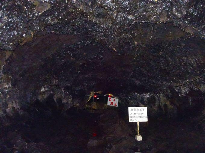 肋骨状、波状、餅型状……など珍しい模様の溶岩が!