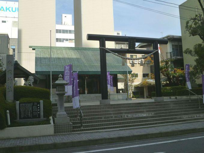 「沼津城本丸」の鬼門に位置する「城岡神社」