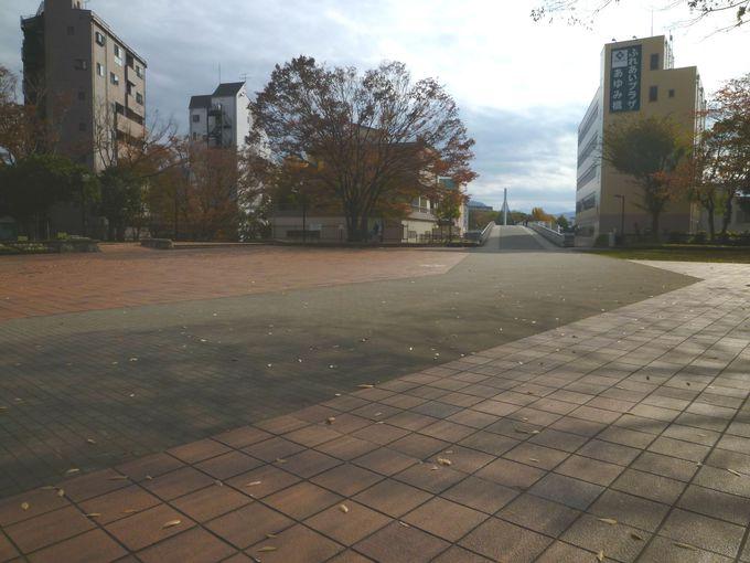 本丸があった場所は、公園として整備されている
