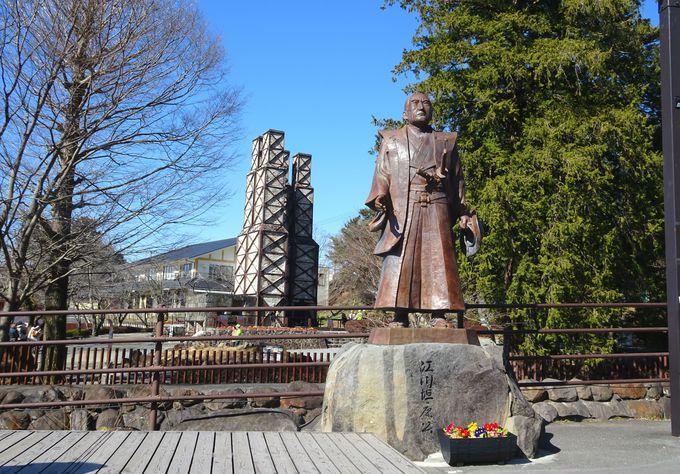 江川担庵公の像×韮山反射炉のコラボ撮影