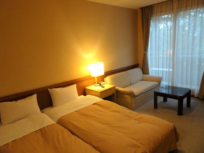 旅の疲れが癒され、リラックスできる客室