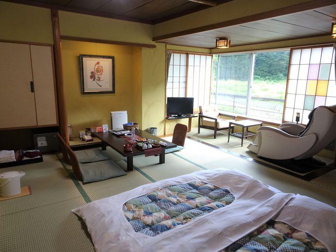 客室は5タイプあり!半露天風呂付の客室も。