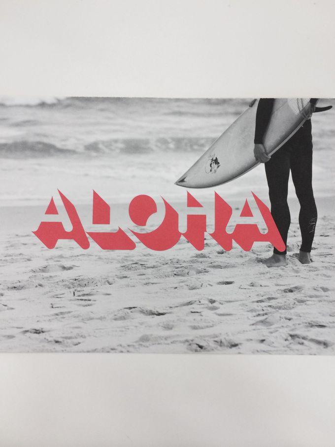 旅の思い出に!「ALOHA」のポストカード