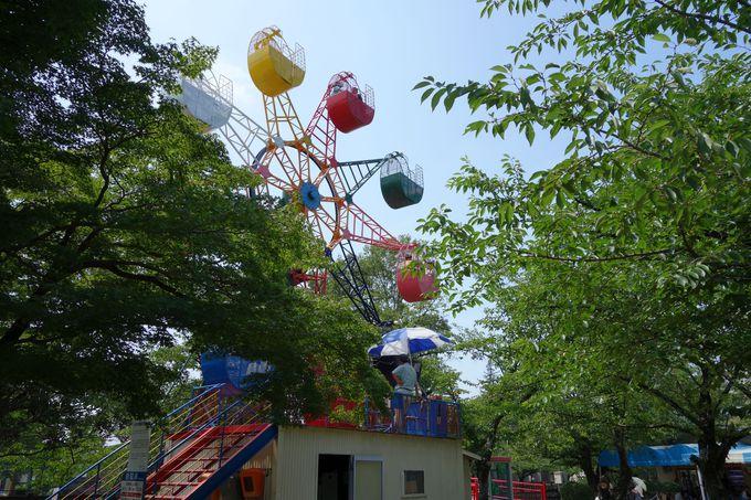 レトロなミニ遊園地も充実