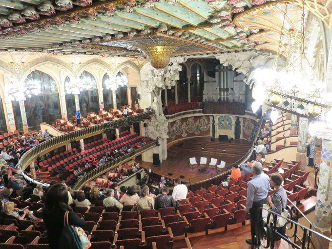 『カタルーニャ音楽堂』のコンサートはこんな感じ(写真撮影・服装等含む)