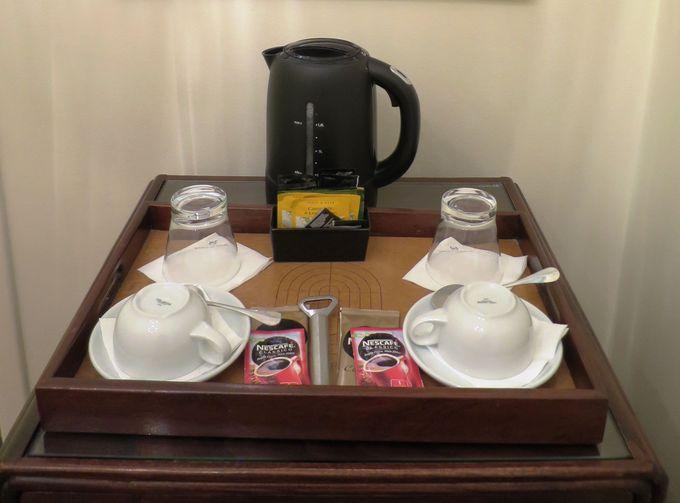清高級感あふれるバス・トイレと無料コーヒーサービス