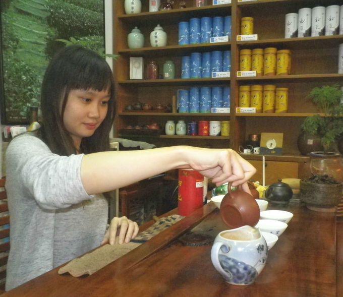 ゆったりと台湾茶を試飲できる場所