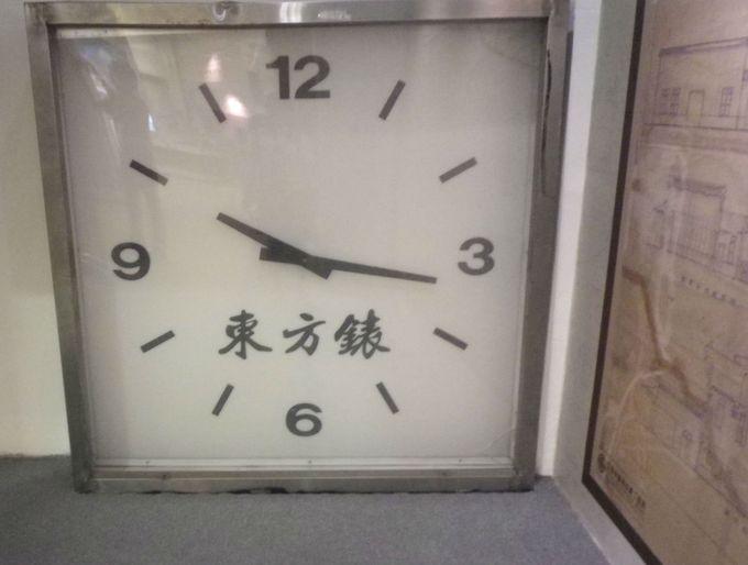 実際に駅で使われていた時計