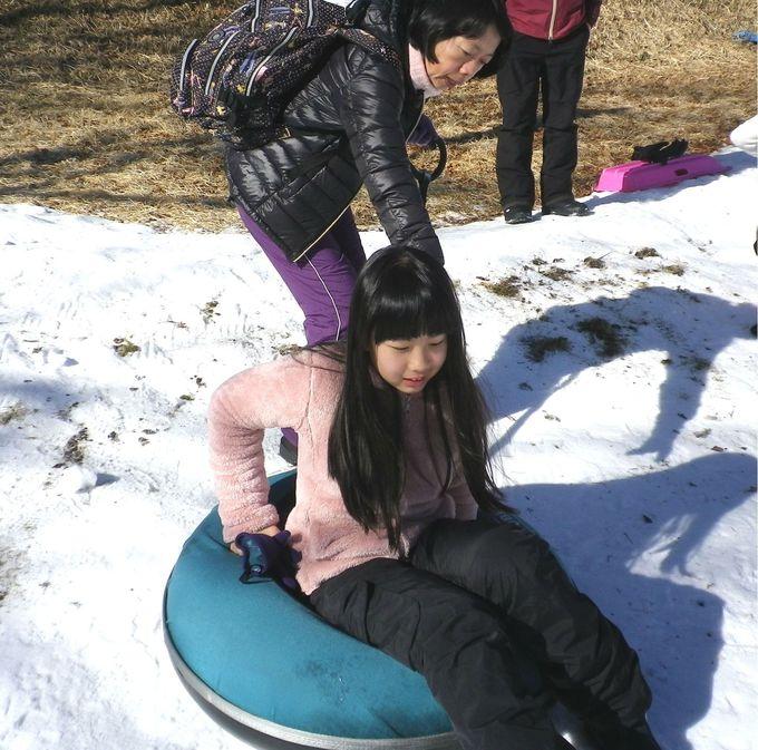 雪遊びコーナーが充実!