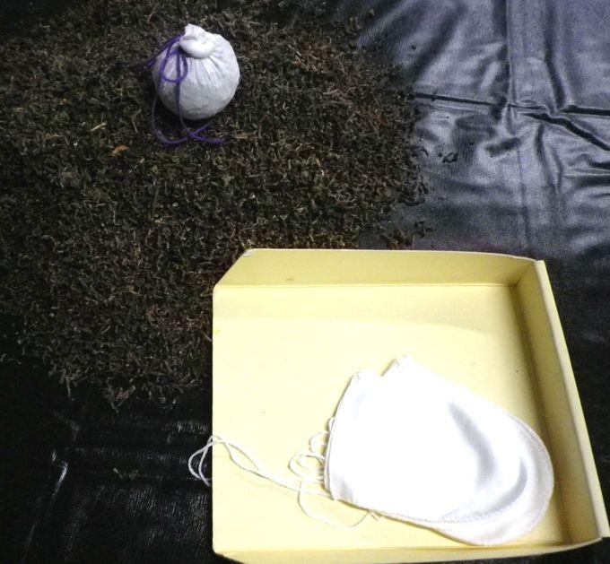 烏龍茶の茎を使った消臭グッズ作り!