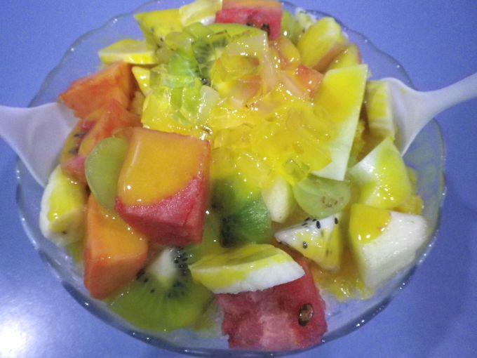 最後は台湾フレッシュフルーツを!