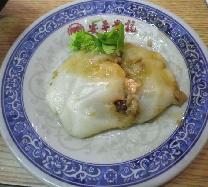 豊富な「安平老街」の「小吃(小皿、一品料理)」