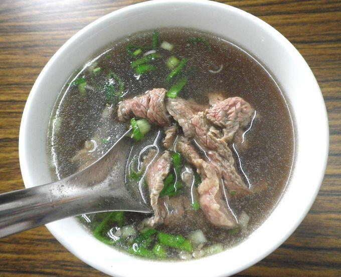 地元民おススメの絶品!「牛肉湯(スープ)」