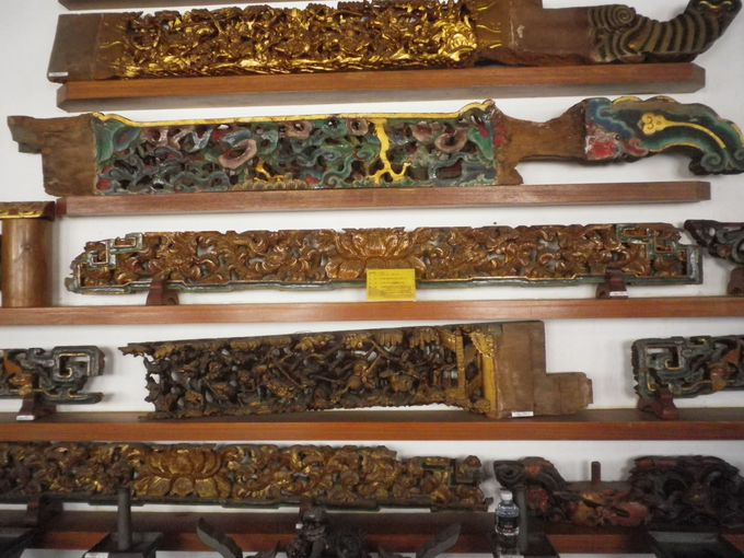 廟の一角にある文物陳列室
