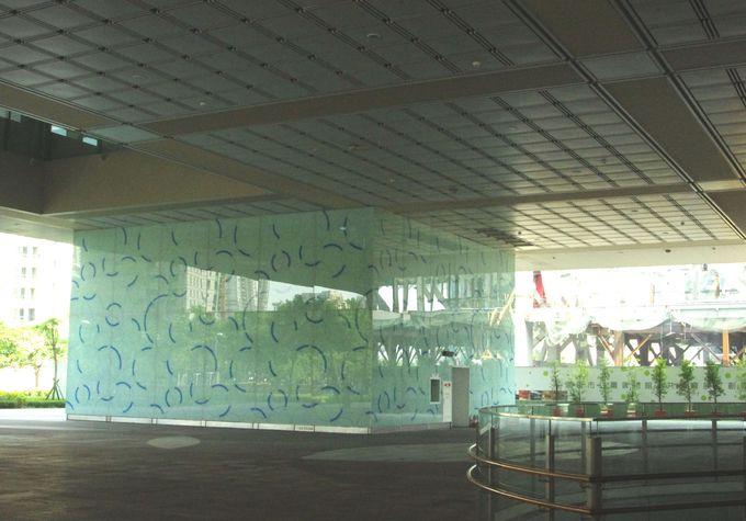 1階の広場〜地下について