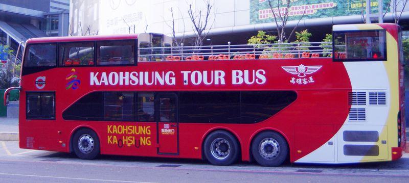 台湾・高雄の二階建てオープントップバスで人気スポットを巡ろう!