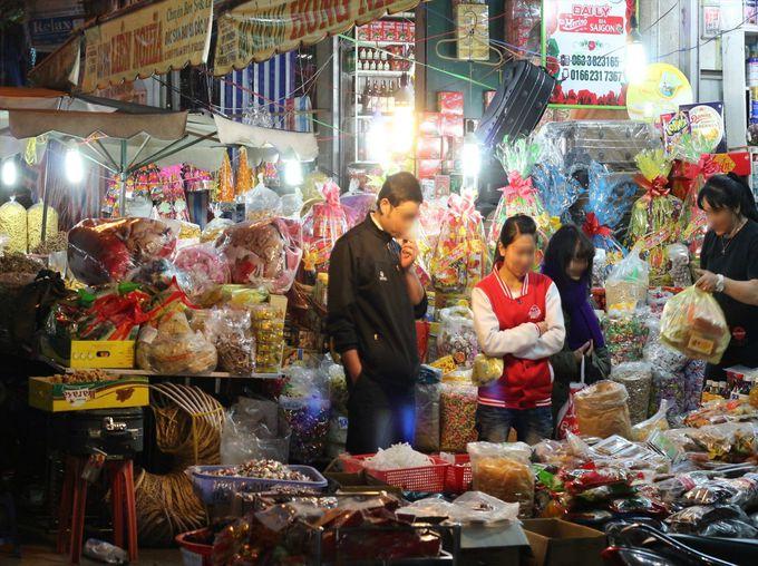 夜はダラット市場周辺ナイトマーケットを散策