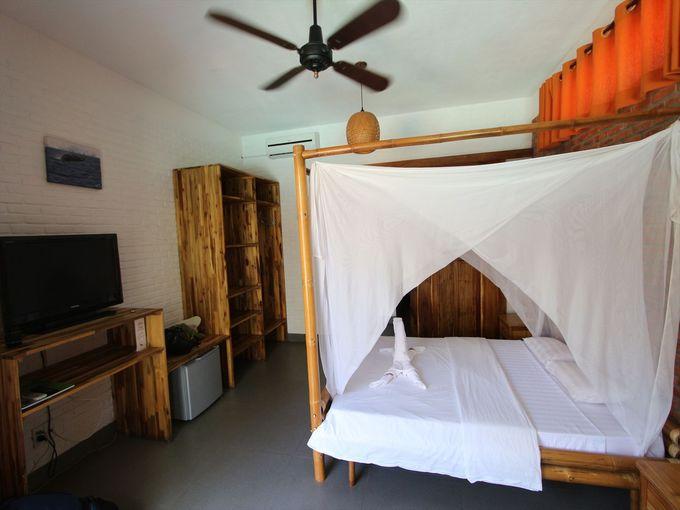 清潔な寝室とジェットバス