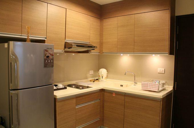 キッチンも全室に設置。調理器具も充実