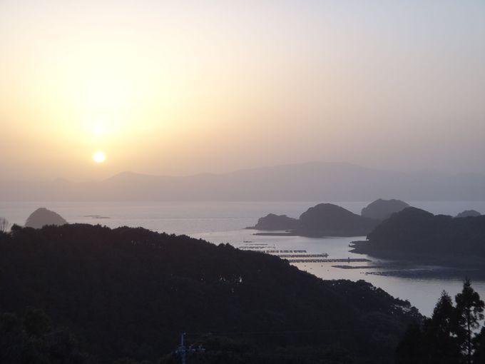 北九十九島に沈む美しい夕日