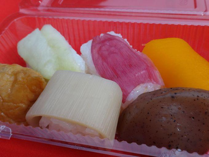 高知の郷土料理「田舎寿司」を食べながら