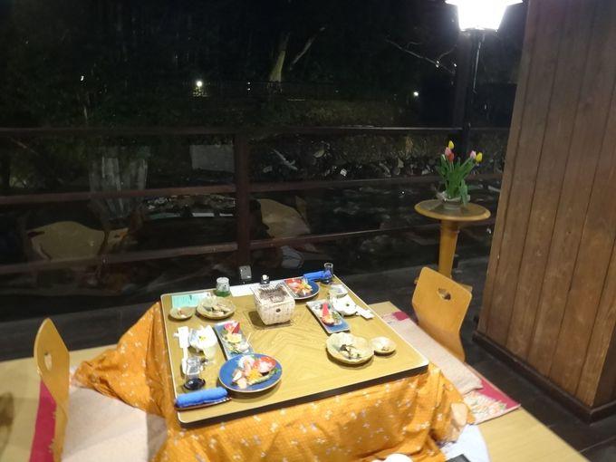 伊豆唯一の川床での夕食