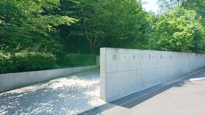 美術館エリア・安藤忠雄氏のコンクリート建築の中に様々な趣向のアート