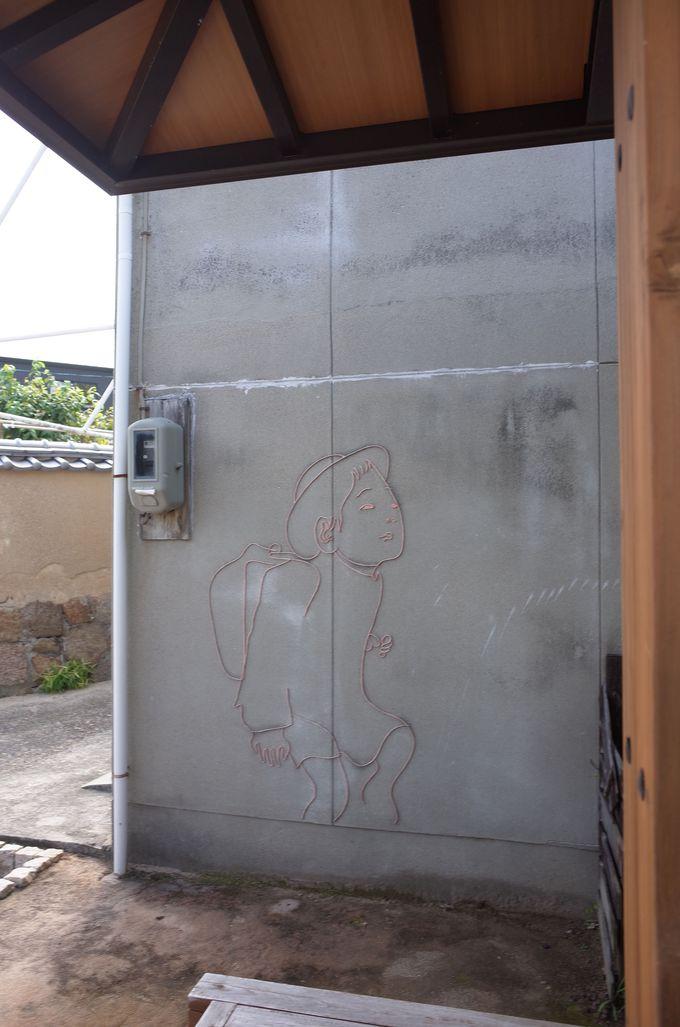 本村エリア・街並みにもさりげないアートが