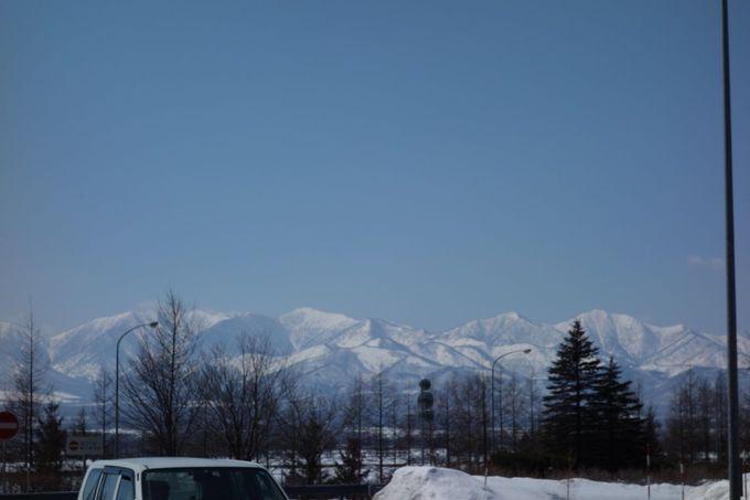 雪と日高山脈