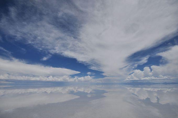 世界で最も高地にあり最も平らな場所にある塩湖