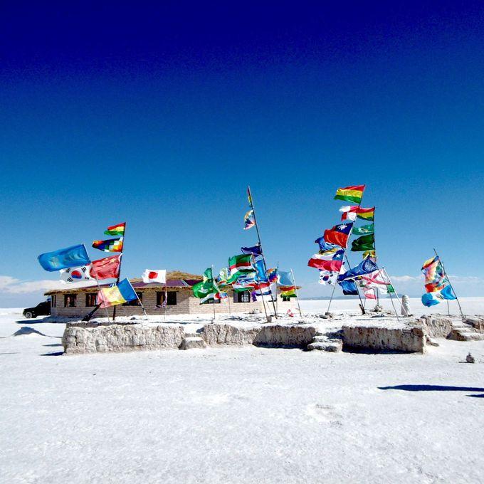 塩湖の中に建つ『プラヤ・ブランカ』